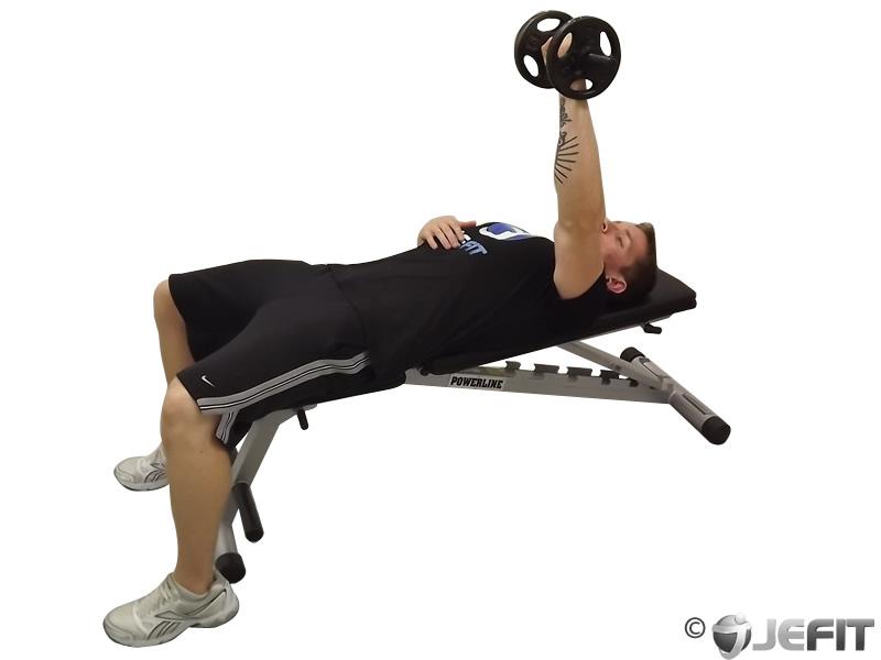 Dumbbell One Arm Bench Press - Exercise Database   Jefit