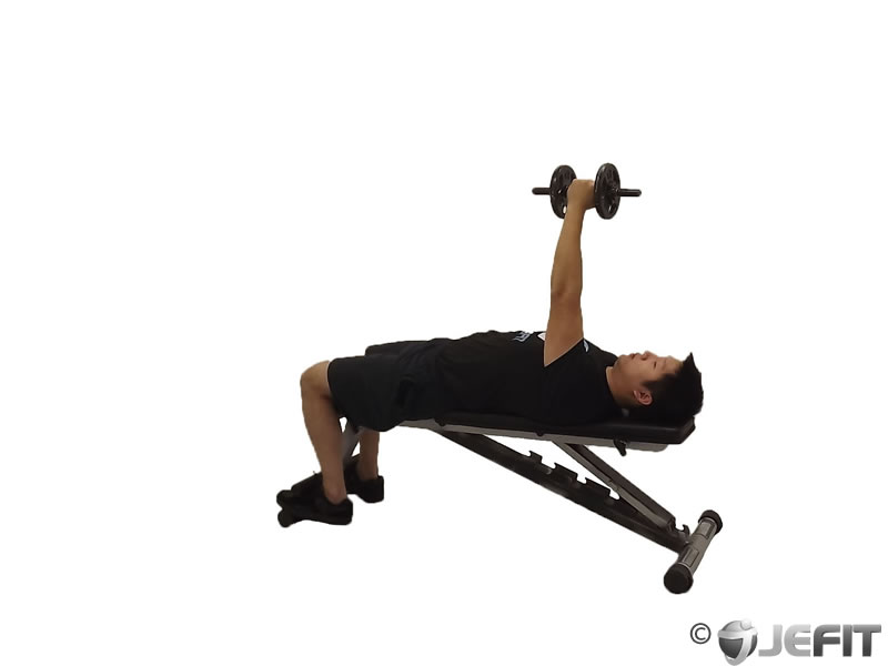 Dumbbell One Arm Bench Fly