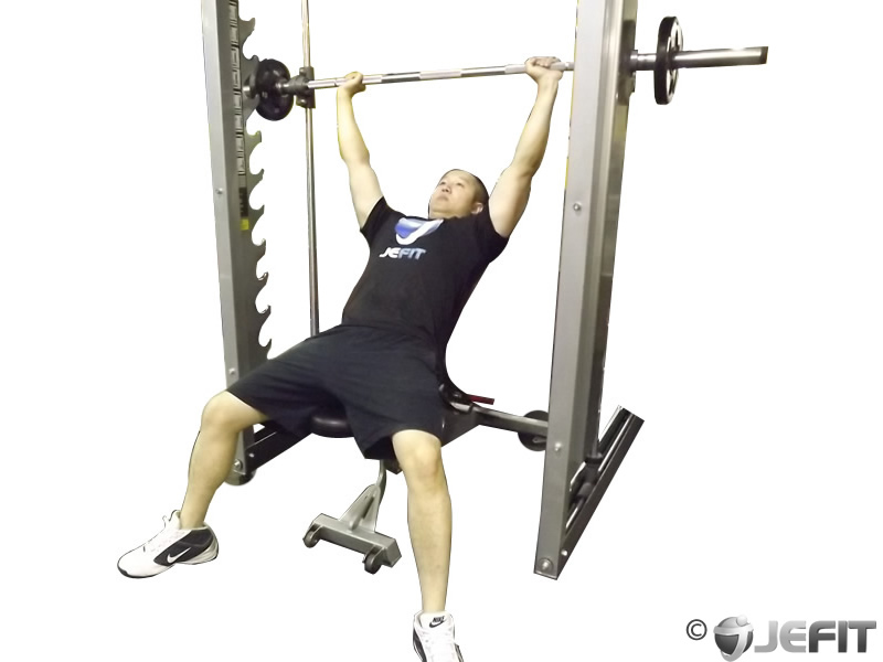 Smith Machine Incline Bench Press Exercise Database Jefit Best Android And Iphone Workout
