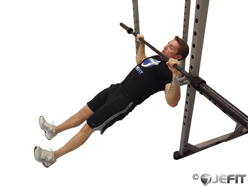Barbell High Inverted Row