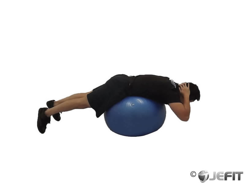 Back Extension on Exercise Ball