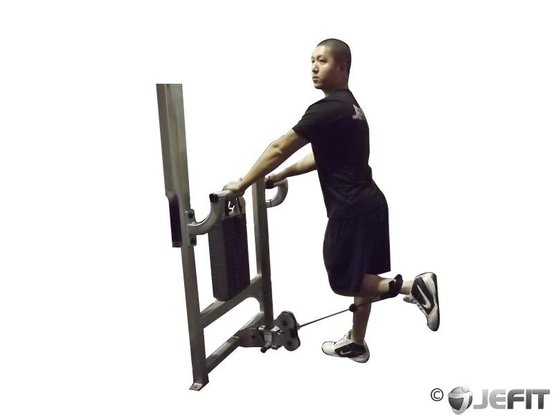 standing leg curls machine
