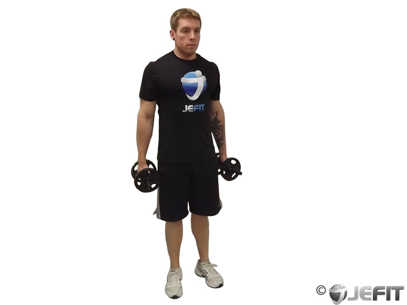 Dumbbell Walking Lunges