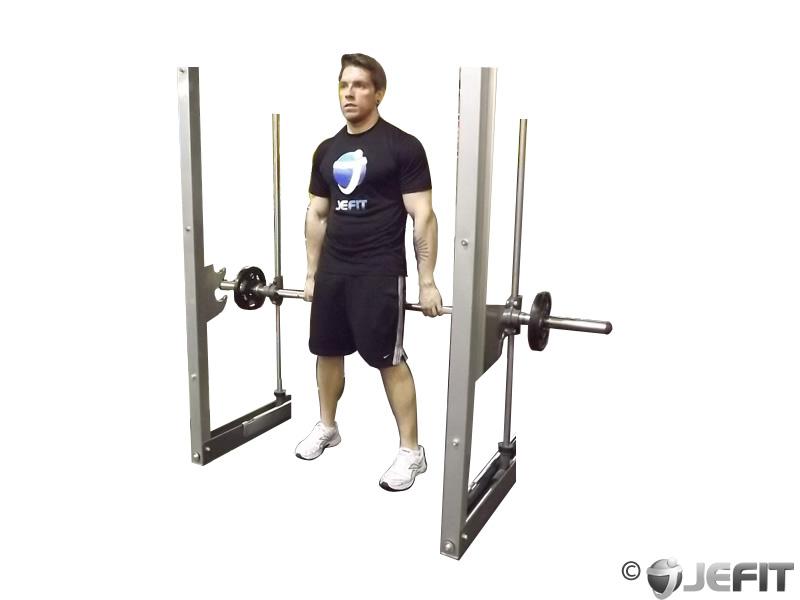 Smith Machine Hack Squat