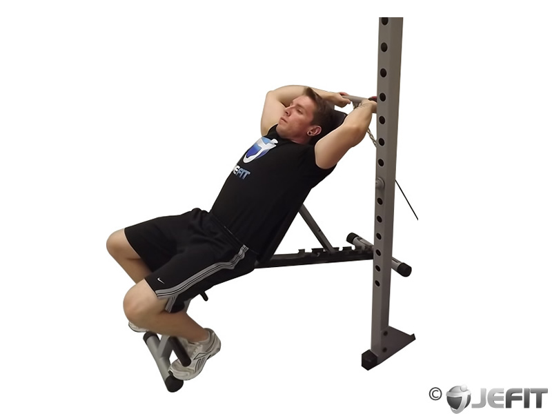 Cable Incline Tricep Extension