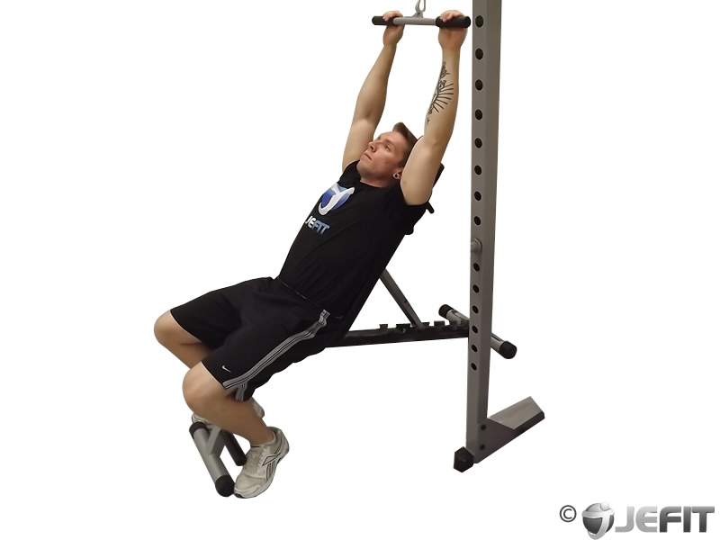 Cable Tricep Incline Pushdown
