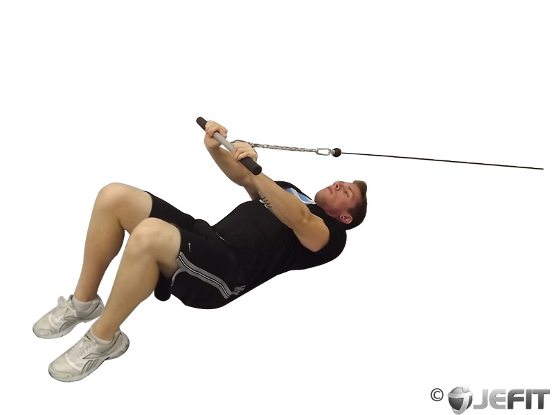 Cable Extensions Workout : Cable low triceps extension exercise database jefit