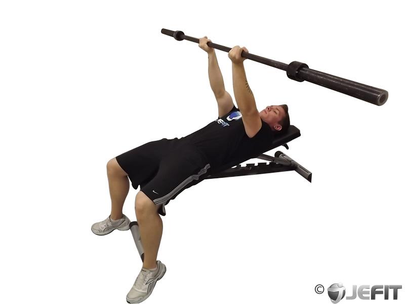 Barbell Reverse Triceps Bench Press Exercise Database Jefit