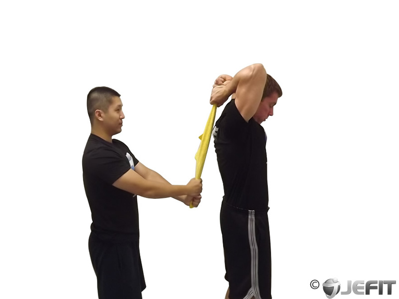 Towel Standing Triceps Extension