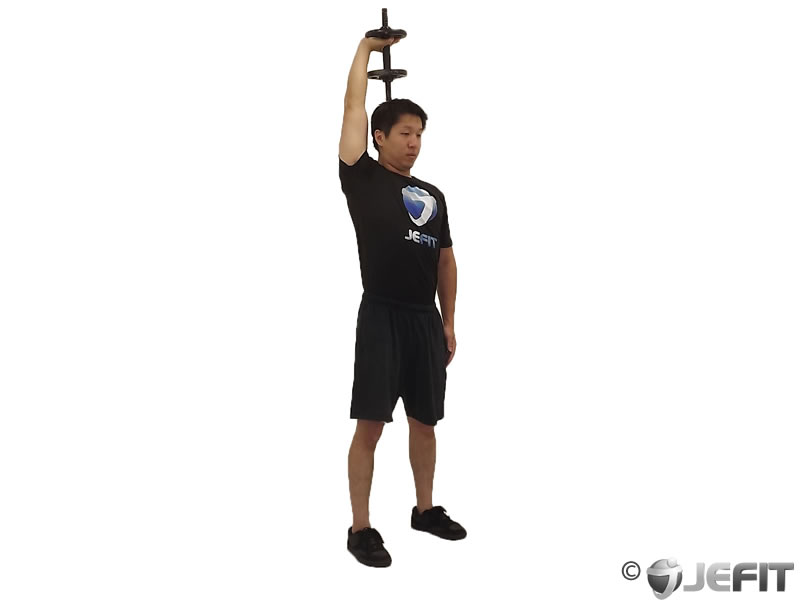 Dumbbell One Arm Triceps Extension