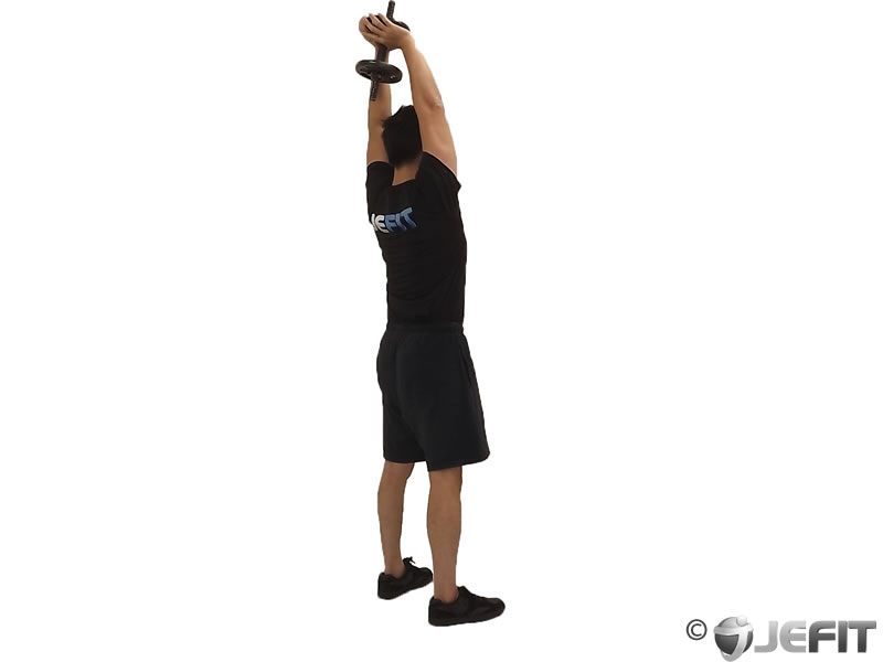 Dumbbell Standing Triceps Extension - Exercise Database ...
