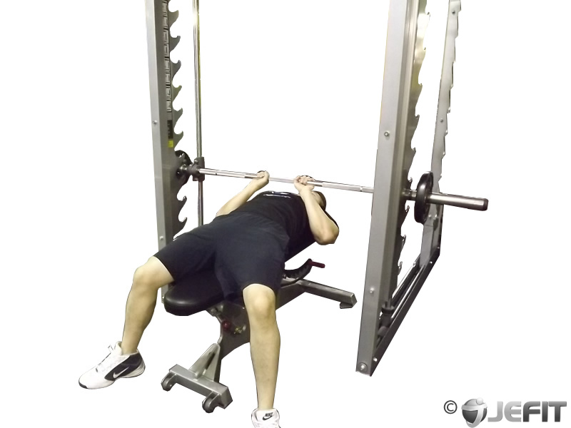 smith machine close grip bench press exercise database
