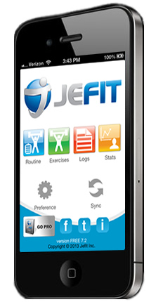 Jefit Free Iphone Best Android Workout App Bodybuilding Tracking System